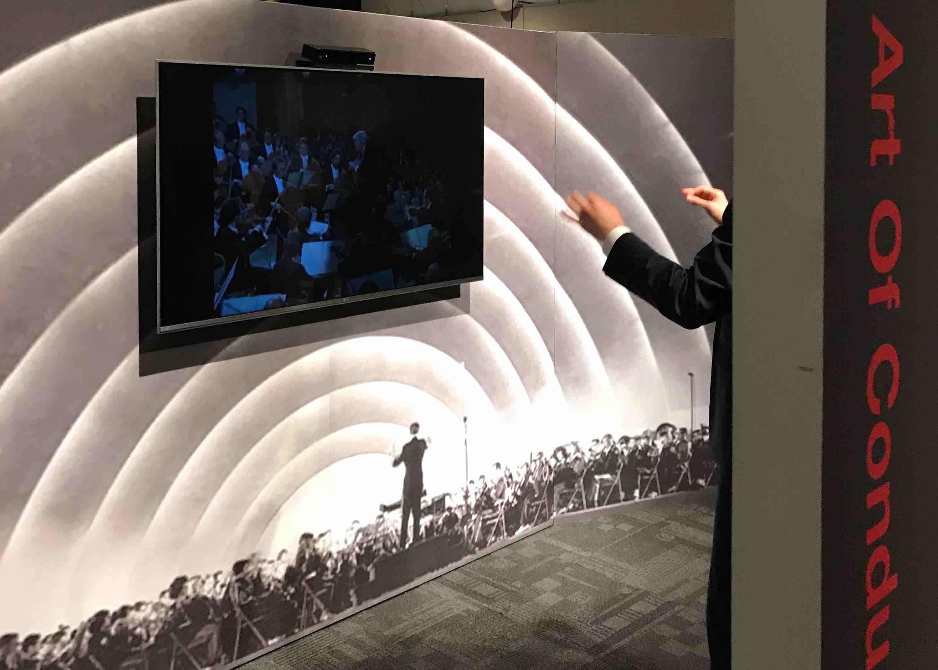 Gestural Maestro - guest conducts at Kennedy Center opening
